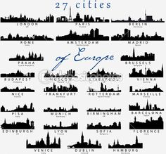 Find Set Detailed Vector Silhouettes European Cities stock images in HD and millions of other royalty-free stock photos, illustrations and vectors in the Shutterstock collection. City Outline, Graffiti Designs, Skyline Silhouette, Kunst Poster, Kirigami, London City, String Art, Silhouettes, Tatoos