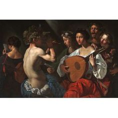 Pietro Paolini, Bacchic Concert, c. 1625-1630, oil on canvas, Dallas Museum of Art, The Karl and Esther Hoblitzelle Collection, gift of the Hoblitzelle Foundation