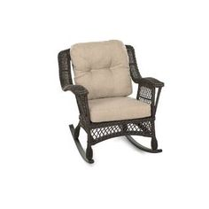 With its luxury looks and flavor, this rocking chair makes an alluring addition to any outdoor living space. Feature exquisitely woven wicker with gently sloping curves and soft yet supportive cushioning. Seat cushions are designed and craft with pol Pool Furniture, Best Outdoor Furniture, Glider Chair, Chair Cushions, Brown Cushions, Outdoor Rocking Chairs, Wicker, Outdoor Living, Outdoor Decor