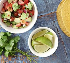 Chunky tomato & avocado salsa This doubles up as both the guacamole and the tomato salsa element of a Mexican meal Diet Soup Recipes, Bbc Good Food Recipes, Mexican Food Recipes, Mexican Dishes, Master Chef, Dinner Recipes For Kids, Healthy Dinner Recipes, Burritos, Enchiladas