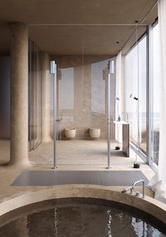 Bathroom Trends 2021 / 2022 – Designs, Colors and Tile Ideas Interior Design and Home Tours Bathroom Interior Design, Home Interior, Interior Architecture, Interior And Exterior, Inspiration Design, Saunas, Bathroom Trends, Beach Hotels, Beach Resorts