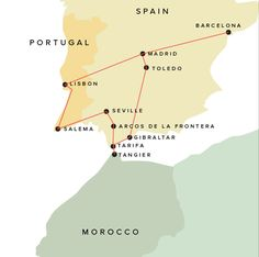 Guide to Portugal, Spain, and Morocco