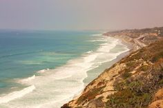 Torrey Pines Beach with Del Mar in the distance