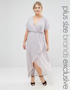 6c8074e3136 Image 1 of Truly You Wrap Maxi Dress With Ruffle Detail Lange Kleider