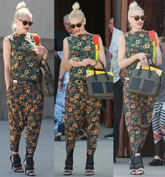 "Gwen Stefani Brings Back the Drop-Crotch Pants Trend As She Enjoys a Day Out with Her Family in L.A.M.B. ""Media"" Sandals"