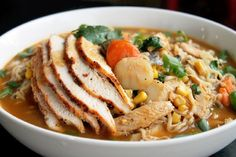 Roasted Chicken Ramen Noodle Soup by creolecontessa #Soup #Chicken #Ramen_Noodle