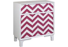 Shop for a Colorful Chevron Pink Accent Cabinet at Rooms To Go Kids. Find  that will look great in your home and complement the rest of your furniture.