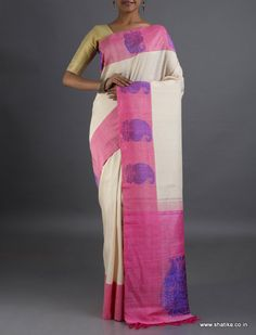 Rupal Designed to Impress Paisleys #LinenSilksaree