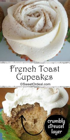 Baking Cupcakes, Yummy Cupcakes, Cupcake Cakes, Maple Cupcakes, Cup Cakes, French Toast Cupcakes, Breakfast Cupcakes, Just Desserts, Delicious Desserts