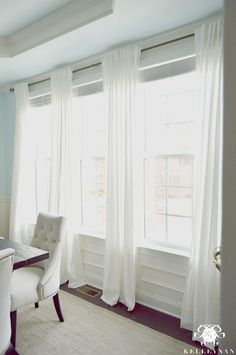 Curtains For 3 Windows Together Have Four Panels