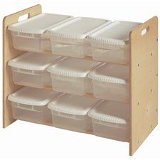 Nine Bin Toy Organizer Double Sided 9 Compartment Cubby