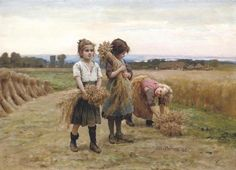 Cesar Pattein  The young harvesters, 1895
