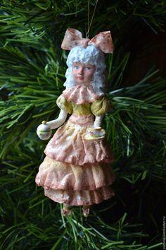 Ватная елочная игрушка. Игрушка из ваты. Ватное папье-маше. Ватные игрушки Свиткиной Татьяны. Елочная игрушка. Елочное украшение. Новогодний…