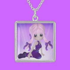 Purple Girl Silver Necklace $154.75