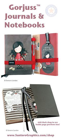 Newly launched by Santoro, their gorjuss notebook range !