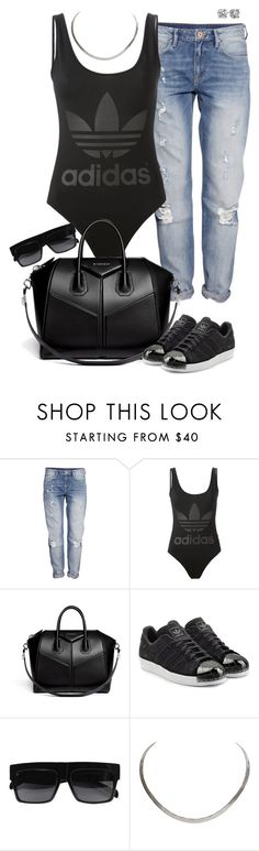 """""""Adidas Day"""" by highfashionfiles ❤ liked on Polyvore featuring H&M, adidas Originals, Givenchy, CÉLINE and Blue Nile"""