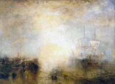 Victorian British Painting: JMW Turner.  'Hurrah! for the Whaler Erebus! Another Fish!' (1846)