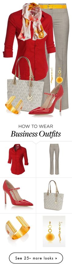 """Business Basics"" by jennifernoriega on Polyvore featuring Altuzarra, LE3NO, Vince Camuto, Michael Kors, Antica Murrina, Manolo Blahnik and Stephanie Kantis"
