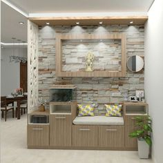 Gracious tone of foyer are welcoming and establish the very own spirit of your home. Its worth planning and investing on elements like… Foyer Design, Home Room Design, Living Room Designs, Home Entrance Decor, Entrance Foyer, Plastic Wall Panels, Living Room Partition, Clinic Interior Design, Bedroom Cupboards
