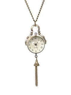 LOVEsick Time Keeper Victorian Steampunk Clock Necklace by Lovesick -- Awesome products selected by Anna Churchill