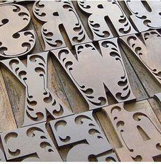 Wood Type.  beautiful
