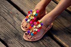 """Sandalen """"Jelly Tots"""" (Handarbeit auf Bestellung)"""