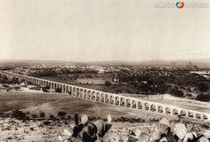Acueductodela ciudad de Querétaro (circa 1920).