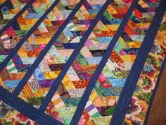Colorful Paper Chains Modern Quilt by NonnaZac on Etsy, $350.00