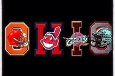 Some of the best sports teams in the land ~ the Cleveland Browns, the Cleveland Indians, the Cleveland Cavaliers and THE Ohio State University Buckeyes! Cleveland Team, Cleveland Browns Football, Cleveland Indians Baseball, Ohio State Football, Ohio State University, Ohio State Buckeyes, Cleveland Rocks, Buckeyes Football, Cleveland Tattoo