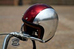 Silver Leaf Custom Helmet