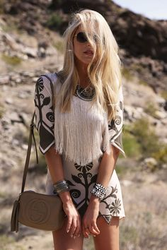 Coachella, Festival, boho, Ibiza, chic, fashion, style, trend, Aztec, fringing, mini dress