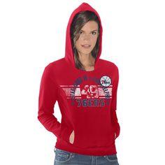 Philadelphia 76ers Women's Teamwork Pullover Hoodie - Red - $27.99
