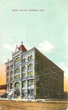 Kearney Nebraska NE 1908 Opera House Collectible Antique Vintage Postcard…