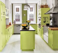 vi da vida vivida: Cozinhas verdes