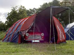 Tuck In Time & we close the show with 1 of them pics that just makes me smile. Yes the Mini is all tucked up in its very own tentage! Goodnight folks