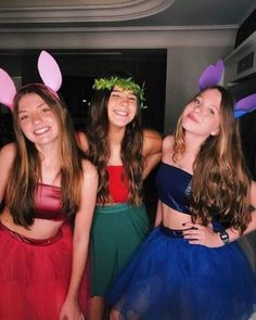 33 Halloween Friend Costumes For Sweet Girls Cute Group Halloween Costumes, Trendy Halloween, Cute Costumes, Halloween Outfits, Costumes Kids, Stitch Halloween Costume, Friend Costumes, Maquillage Halloween, Halloween Disfraces