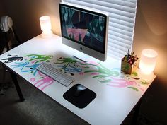 Modern Workspace  :: iMac - Cool Desk Art