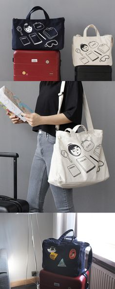 Do you have a lot of things to carry at once? The Ooh La La Jumbo Shoulder Bag is here to help! This durable canvas bag can be used as a travel bag for a short trip, an additional travel bag, or a daily bag for the day you need to carry many things. The fun and quirky Ooh La La illustrations on the bag is another attractive feature of the bag!