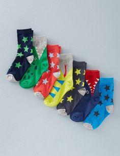 7 Pack Sock Box 51027 Socks & Tights at Boden Discount Kids Clothes Online, Kids Clothing Brands List, Boys Closet, Boys Socks, Cool Kids Clothes, Boys Swimwear, Boys Accessories, Toddler Boys, Infant Boys