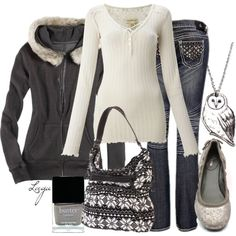 A fashion look from October 2012 featuring Denim & Supply by Ralph Lauren tops, American Eagle Outfitters hoodies and Antique Rivet jeans. Browse and shop rela…