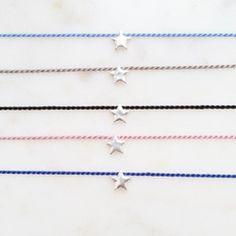 Seidenarmband mit Stern