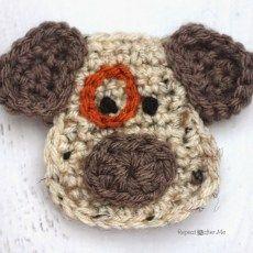 D is for Dog: Crochet Dog Applique
