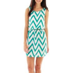 My Michelle Sleeveless Chevron Print Dress  found at @JCPenney