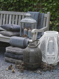 When sitting in the garden it is nice to have some lantern near you.