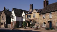 View of The George Inn in West Street in Lacock Village, Wiltshire