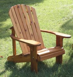 Adirondack Chairs.  Just got a few for the back yard to sit around the firepit.  Ah, spring!