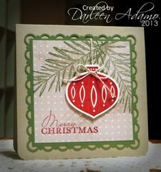 Quick Christmas Card by darleenstamps - Cards and Paper Crafts at Splitcoaststampers