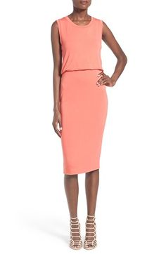 Leith Sleeveless Midi Dress available at #Nordstrom