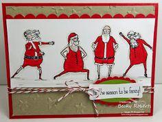 Inking Idaho: Visions of Santa Handmade Christmas, Christmas Ideas, Christmas Crafts, Christmas 2014, Christmas Ornaments, Merry Christmas, Xmas Cards, Holiday Cards, Santa Stamp