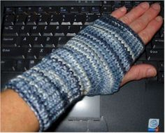 Knitting machine gloves. I might try to crochet these.